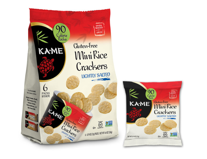 KAME Mini Rice Crackers Packaging